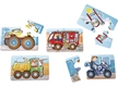 5 Little Hand Puzzles Rotating effect - Vehicles