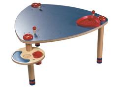 Spieltisch, blau/mais