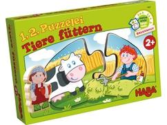 1, 2, Puzzelei – Tiere füttern