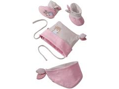 Conjunto para bebés Amigos mimosos, rosa