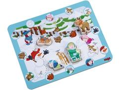 Puzzle de descubridores Diversión de invierno