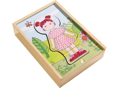 Houten puzzel Lilli's lievelingskleren