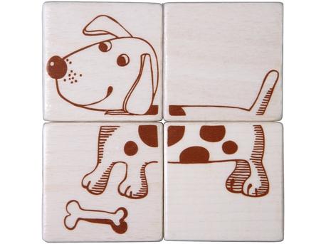 Picture Cubes Puzzle Farm Animals