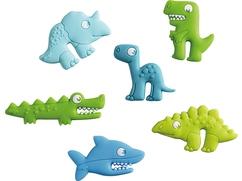 Etiquettes en silicone pour verres Les amis des dinosaure