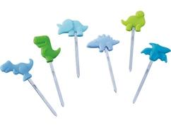 Pinchos para snacks infantiles Desfile de dinosaurios