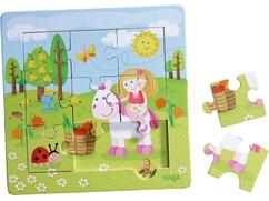 Puzzle con marco de madera El jardín de las hadas