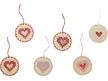Heart Embroidery Pendants