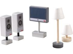 Little Friends – Accessoires voor het poppenhuis Televisie & lampen