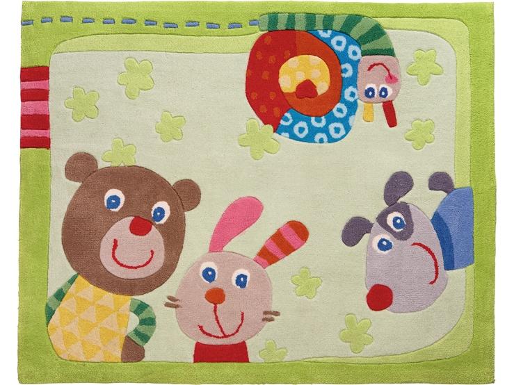 Kinderteppich haba  Teppich Kunterbunte Freunde | Kinderteppiche | Kinderzimmer | HABA ...