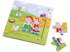 Puzzle con marco de madera Pablo y María