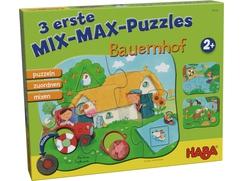 3 erste Mix-Max-Puzzles - Bauernhof