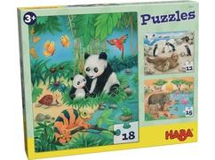 Puzzles Tierfamilien