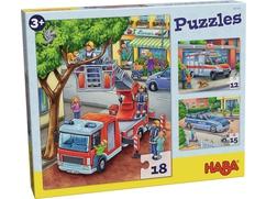 Puzzles Policía, bomberos y compañía