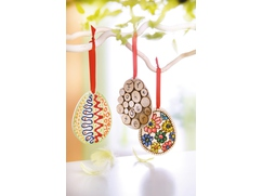 Easter Egg Wooden Pendants