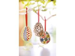 Easter Egg Wooden Pendants
