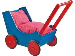 Poppenwagen Blauw/Rood