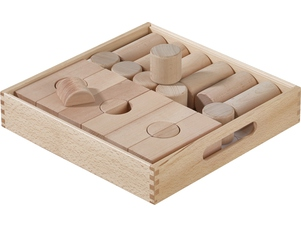 Fröbel Building Kit Bridges and Cylinders