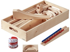 Ball Track Building Kit Ramps and Curves