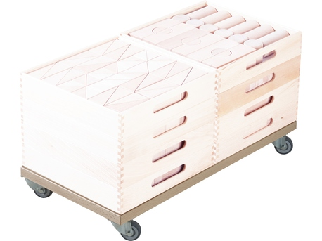 Fröbel Roller Base for Building Kit Cart