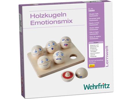 """""""Mixed Emotions"""" Wooden Balls"""