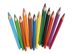 Pencil Set, 12 colors, three-sided