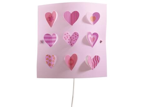 Hearts wall light