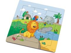 Holzrahmen-Puzzle Löwenfreunde