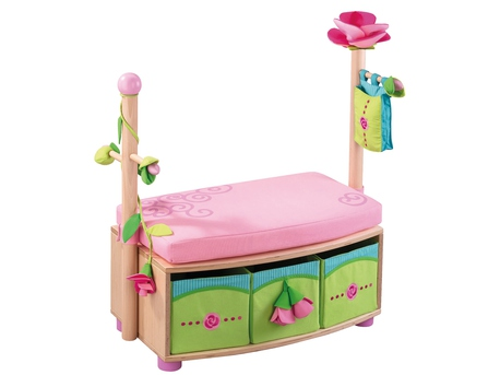 Wardrobe with bench Rose Fairy