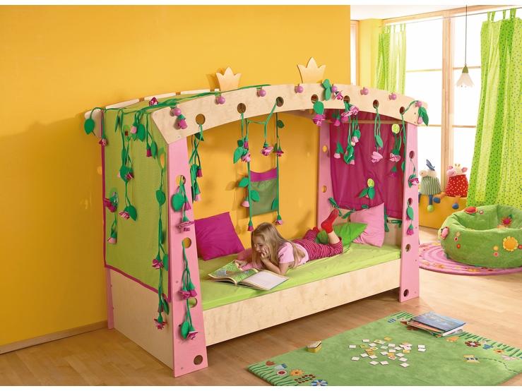 bett dornr schen kinderm bel kinderzimmer haba erfinder f r kinder. Black Bedroom Furniture Sets. Home Design Ideas