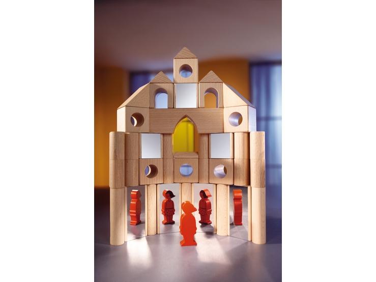 blocs miroirs blocs de construction en bois jouets. Black Bedroom Furniture Sets. Home Design Ideas