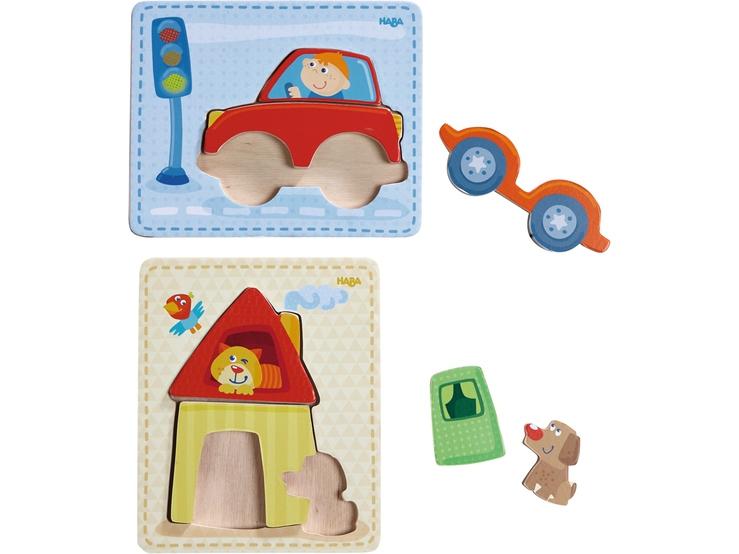 puzzle en bois maison voiture puzzles pour enfants. Black Bedroom Furniture Sets. Home Design Ideas