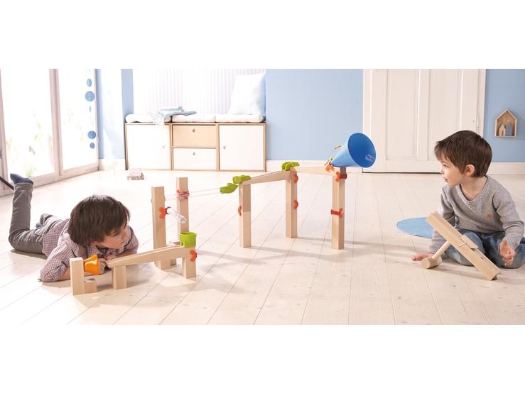 kugelbahn grundpackung speed explorer klassische kugelbahn kugelbahn spielzeug haba. Black Bedroom Furniture Sets. Home Design Ideas