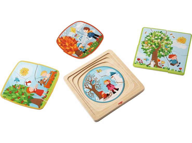 puzzle en bois ma saison pr f r e puzzles pour enfants. Black Bedroom Furniture Sets. Home Design Ideas