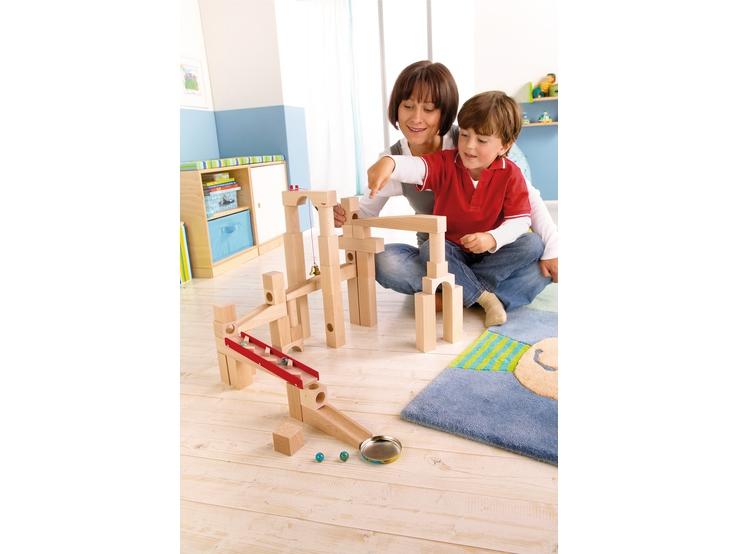 kugelbahn bausatz klassische kugelbahn kugelbahn spielzeug haba erfinder f r kinder. Black Bedroom Furniture Sets. Home Design Ideas